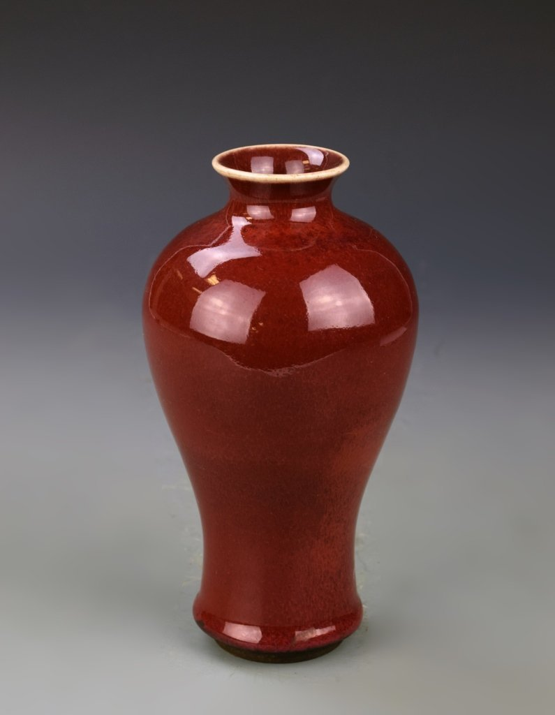 Two Chinese Ox Blood Vases