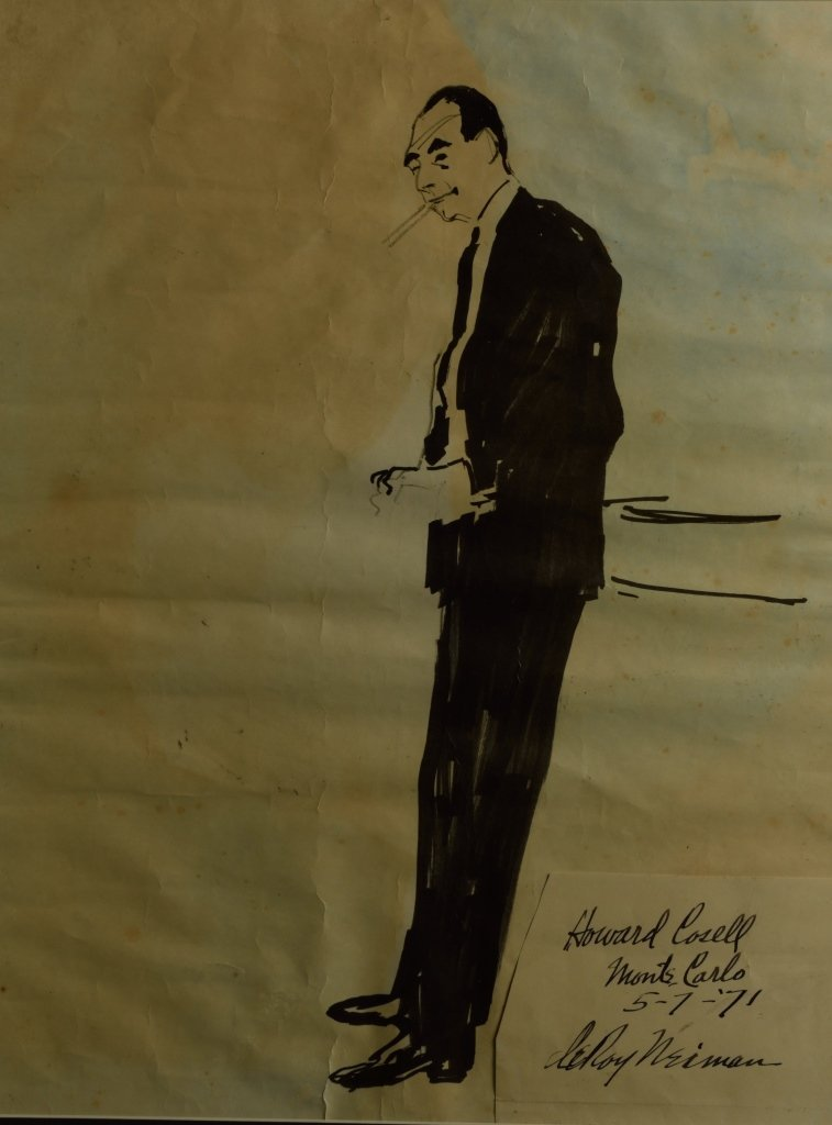 Sketch of Howard Cosell Monte
