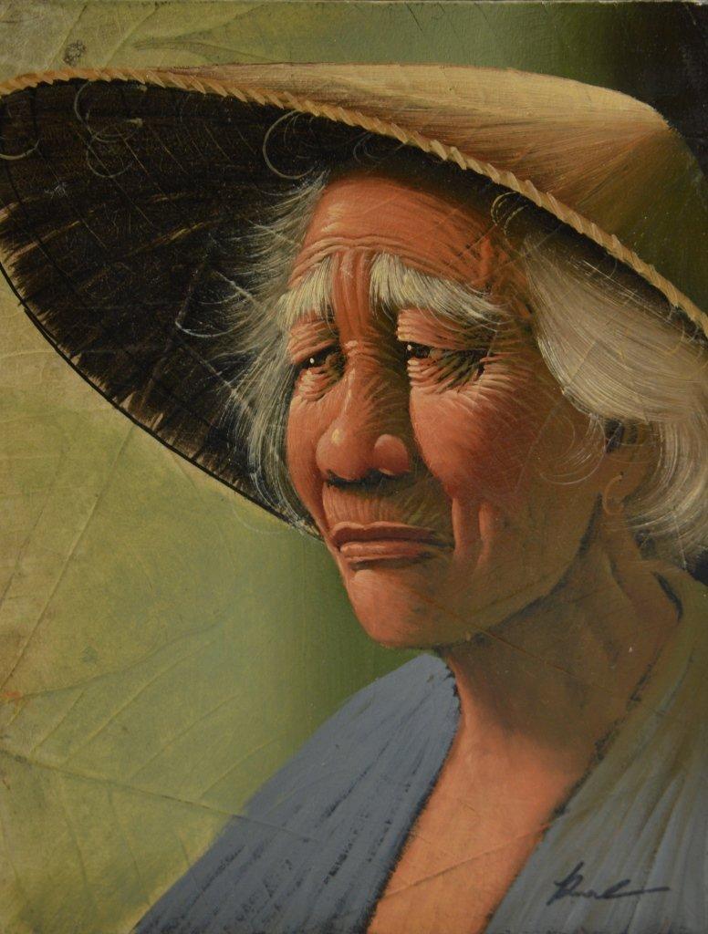 Pair of Asian Oil Paintings