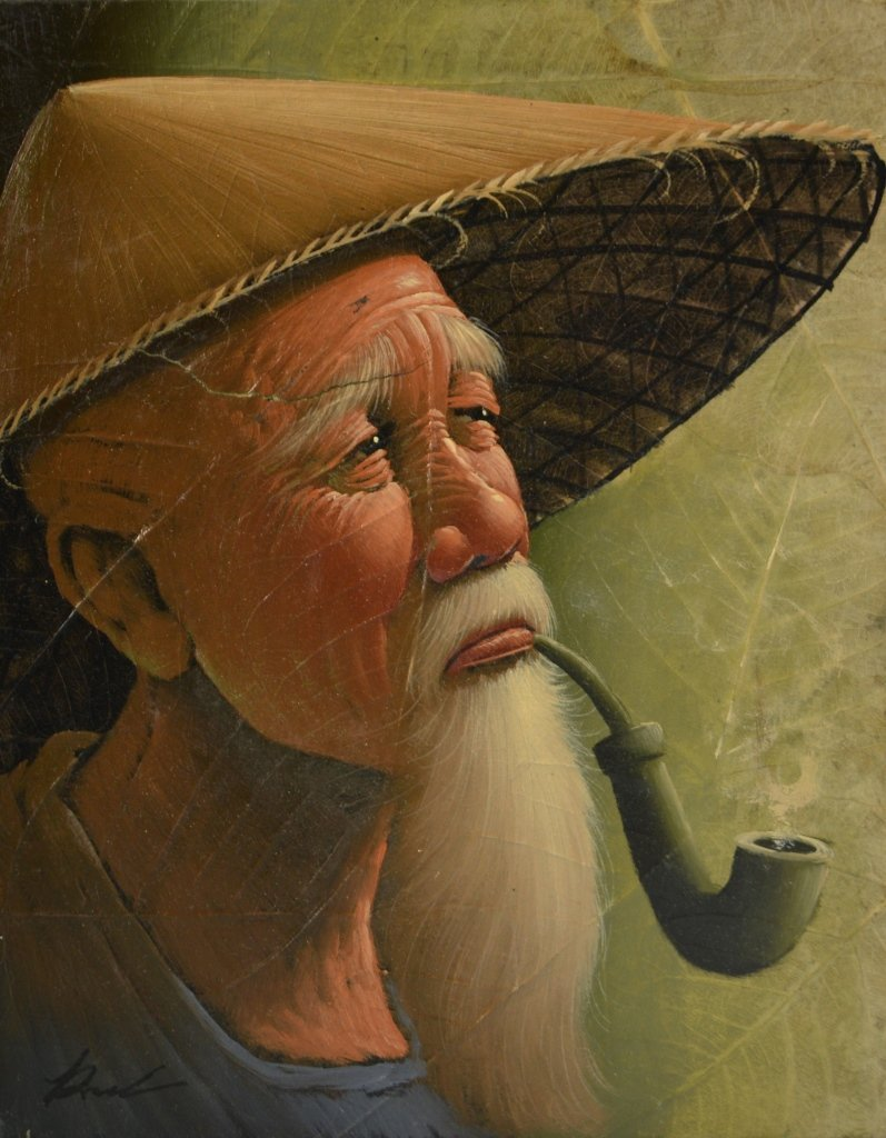 Pair of Asian Oil Paintings - 3