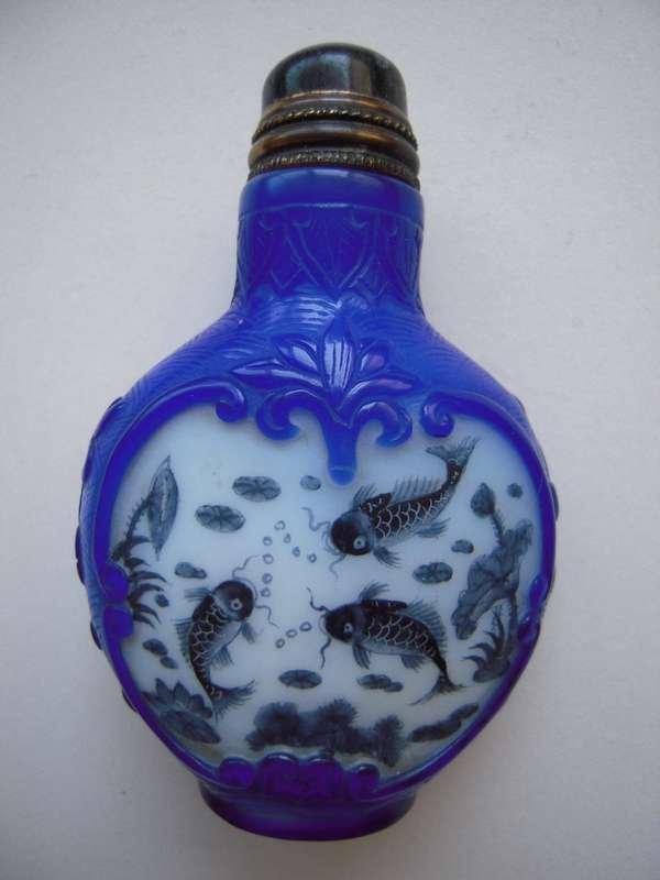 0ld Chinese Pekin Glass Snuff bottle