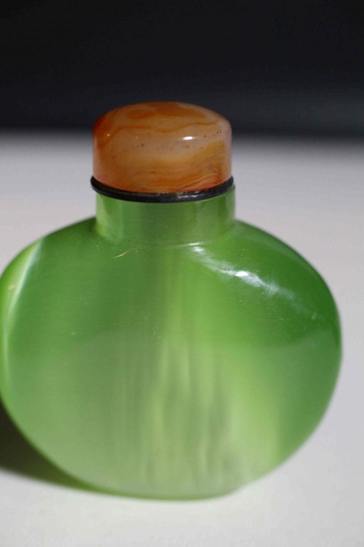 chinese Opal Green color snuff bottle