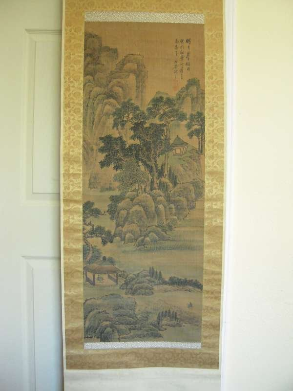 Qing Chinese Water Ink Painting on The silk Wang shigu