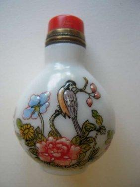 Chinese Porcelain Body Enamel Snuff Bottle