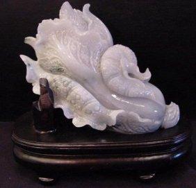 Chinese Light Green Lavender Jadeite Cabbage