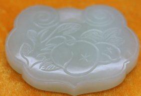 Chinese White Jade Ruyi Pendants