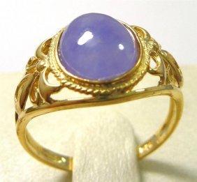 Chinese Lavender Jadeite Jade Ring