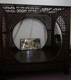 Chinese Antiques Large Rosewood Canopy Bed