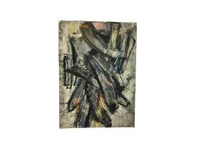 Carlos Cornero 1960 French Abstract Painting