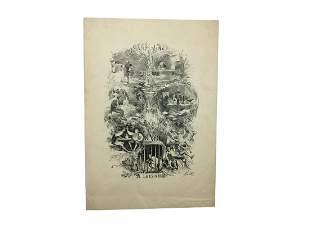 Edmond Morin 19th C engraving L Usage LAbus