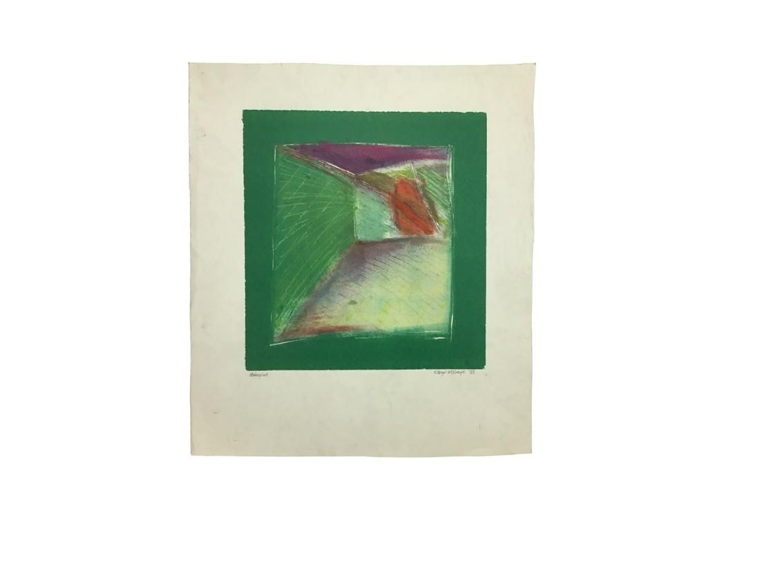 Robyn McIntyre Abstract Monoprint