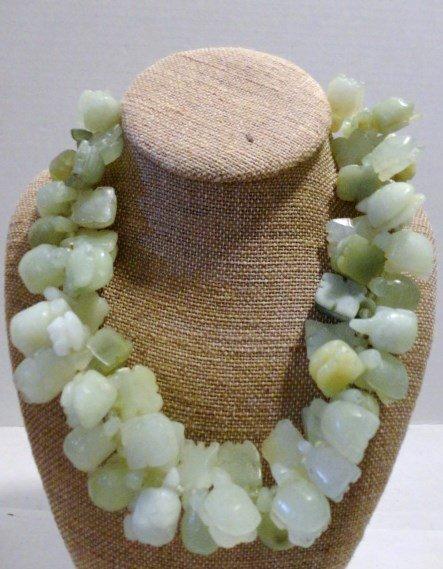 Jade Turtle Bead Necklace
