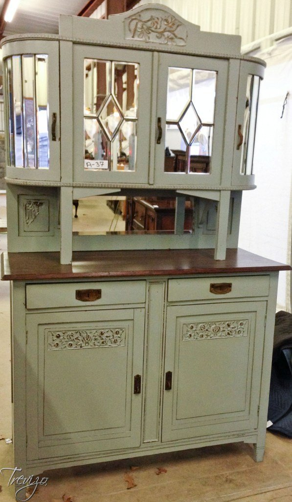 LIGHT GRAY DECO DOUBLE BUFFET