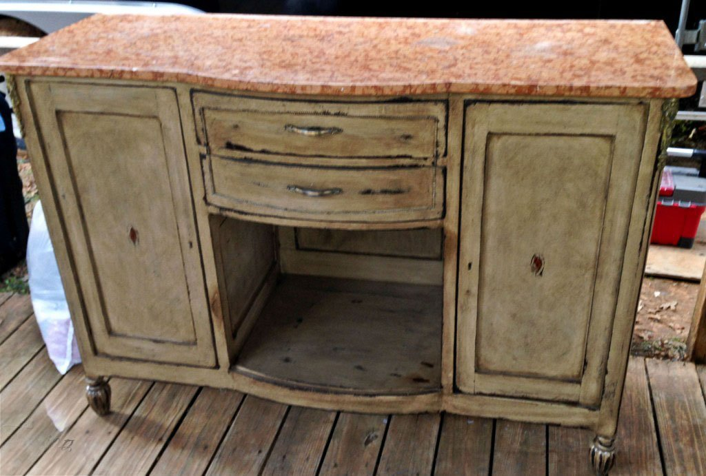 FRENCH MARBLE TOP BUFFET