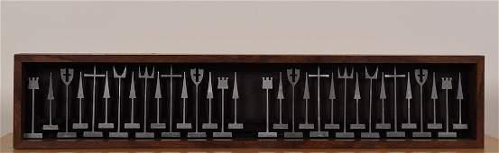 Alcoa Aluminum Chess Set, Austin Cox, 1962