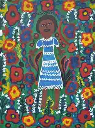 Louisiane Saint Fleurant (Haitian) Figure in Garden