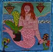 Amina Simeon (Haitian) La Sirene, Drapeau/Vodou Flag