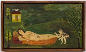 Ludwig Wiecek PolandPolish Reclining Nude 1970s