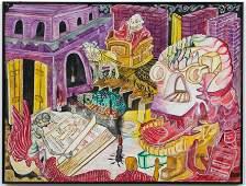 Jacques Hyppolite (Haitian/Haiti) Surreal Dreamscape