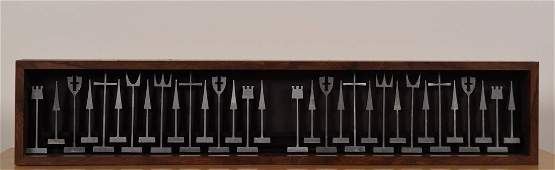 Alcoa Mid-Century Aluminum Chess Set
