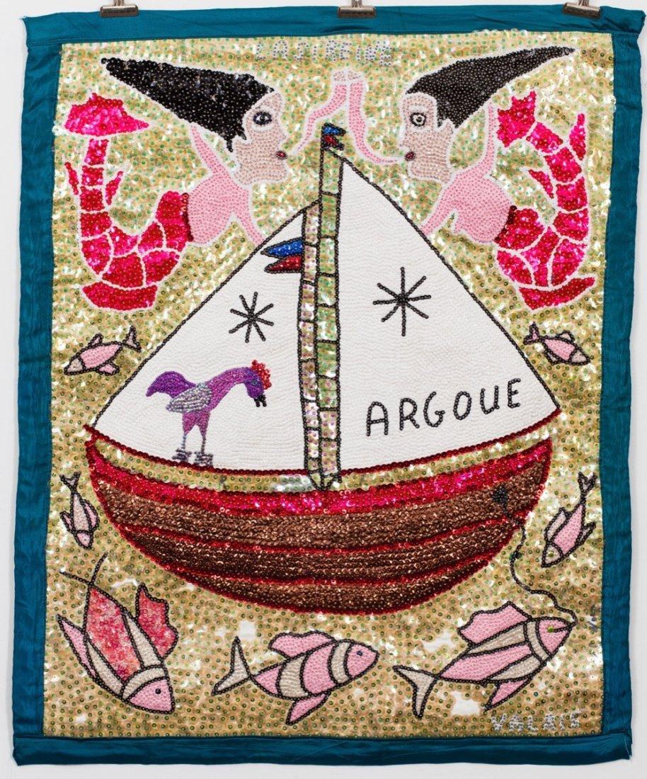 Drapeau/Vodou Sequin Flag (Haitian/20th C.)   Argoue