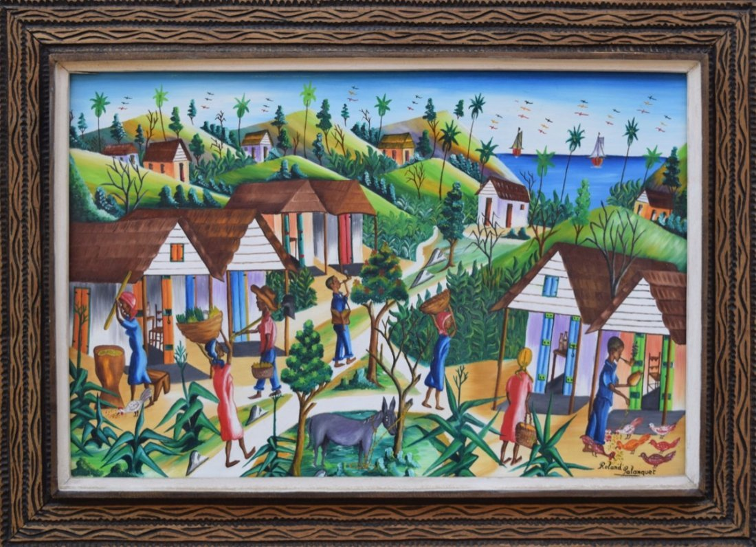 Roland Palanquet (Haitian, 20th c.)   Life by Sea,