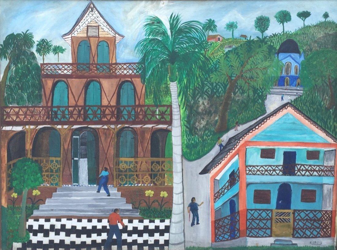 L. Deltis (Haitian/20th C.) Gingerbread Houses on