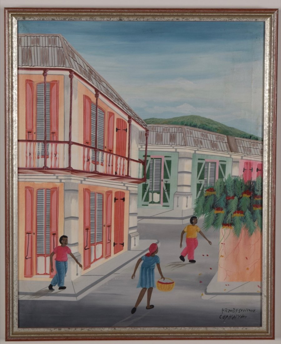 Artist Unknown (Haitian/20th C.) Cap-Haitien Street
