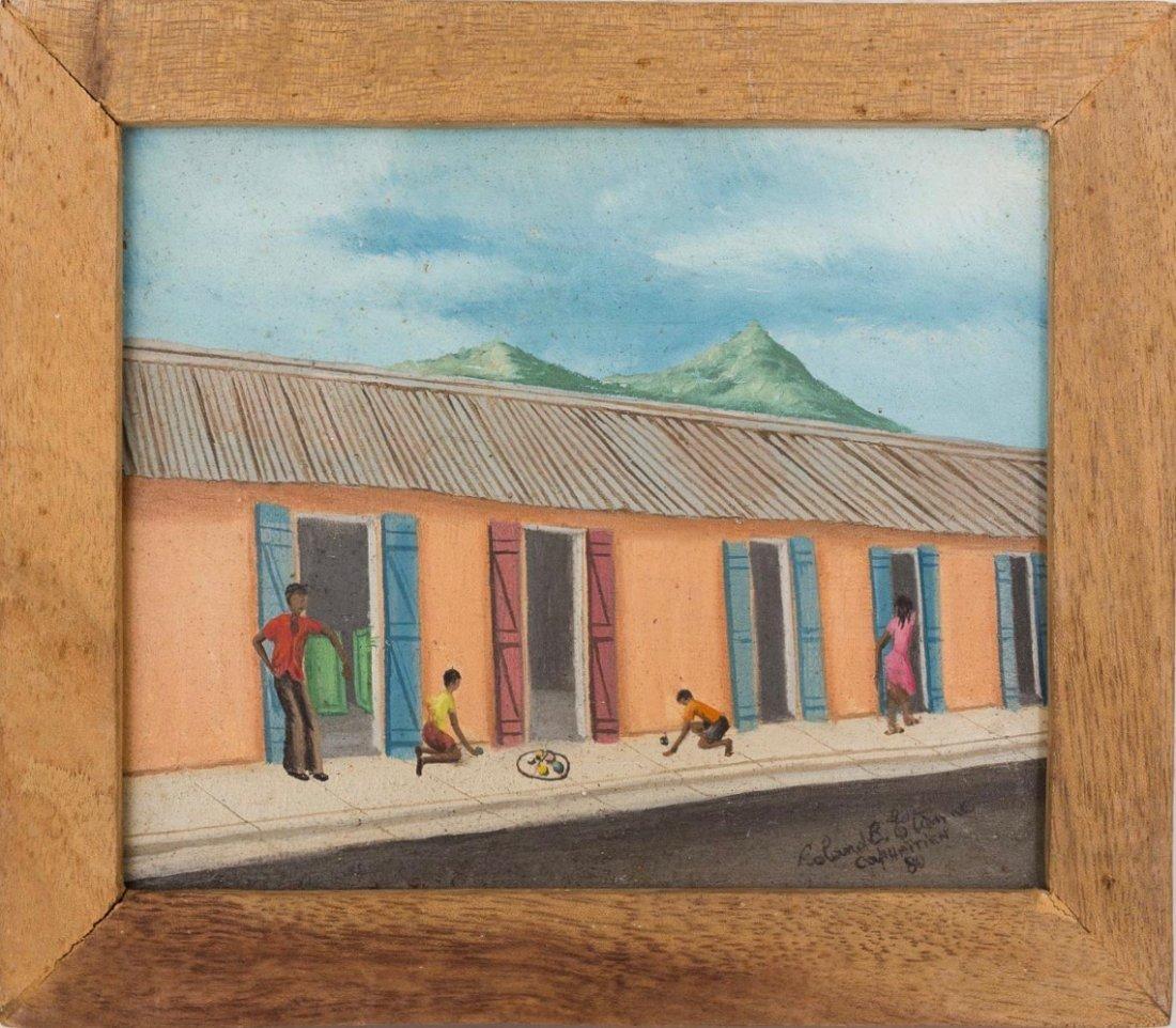 Roland Etienne (Haitian/Cap-Haitien, 20th c.)   Playing