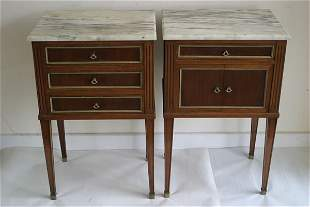 Pair of empire style bedside cupboards i