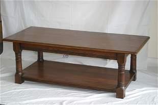 "Contemporary oak coffee table 51"" x 24"""