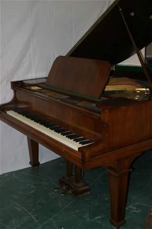 A mahogany cased Baby Grand Piano by Cra