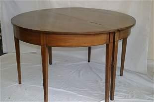 A Georgian mahogany 'D' end dining table