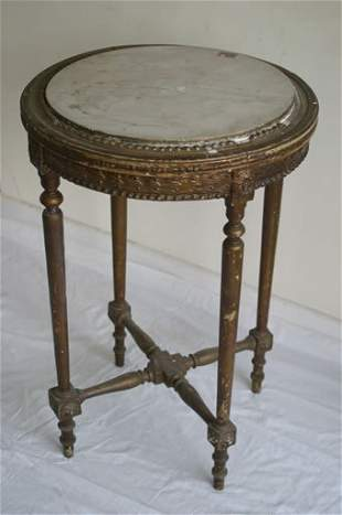 19c circular marble topped occasional ta