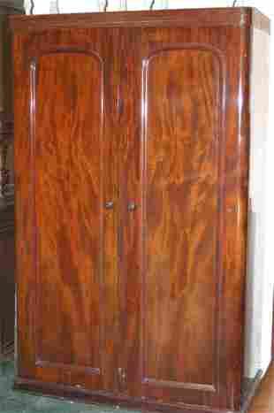 Victorian flame mahogany double wardrobe
