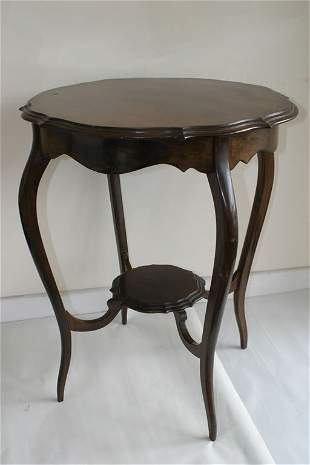 Edwardian occasional table with shaped u