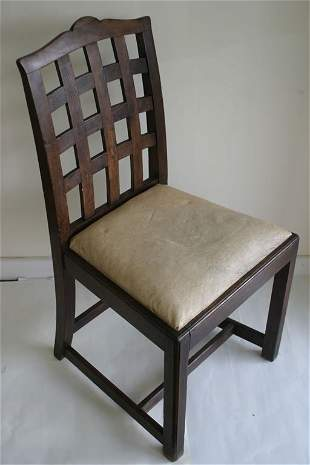 Oak portcullis chair together with 19c m