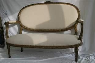 Louis XV style canapé on finished uphols