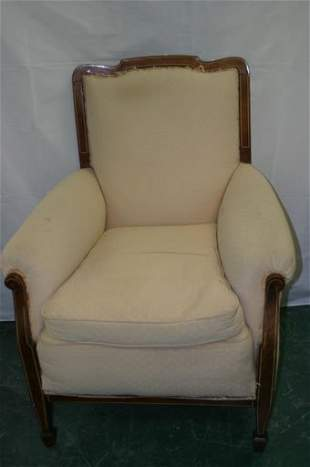 Edwardian mahogany upholstered chair