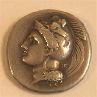 LUCANIA, Velia (400-350BC) STATER. Obv.