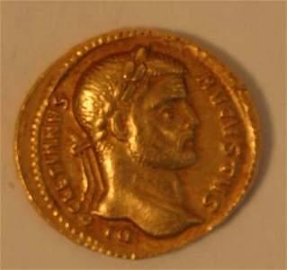 1091: DIOCLETIAN.  AUREUS.  Rev. the emperor