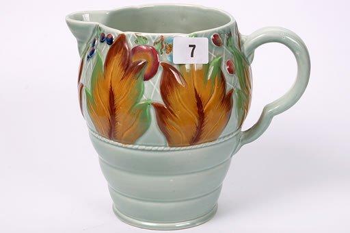 2007: Clarice Cliff jug 'My Garden' pattern