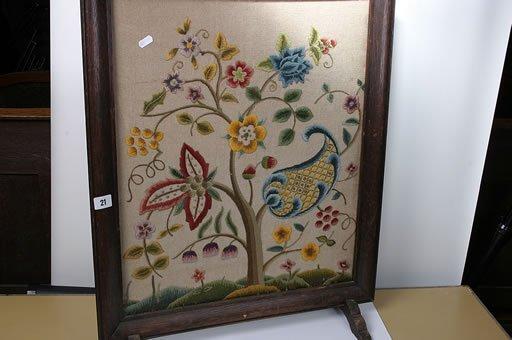 2021: Oak framed tapestry fire screen