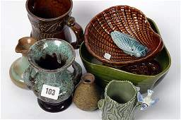 2103: Small collection of decorative pottery