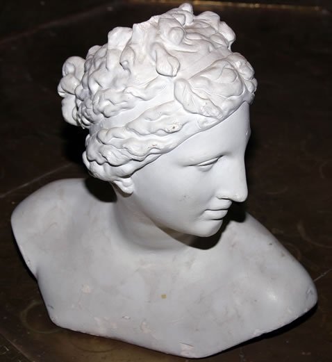 "3006: 20c classical plaster bust, 15"" high"