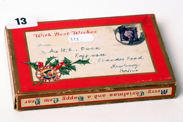 1013: Christmas gift box of Players cigarettes, c1948 w