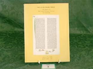 Christie's New York 'The Gutenberg Bible' April 1