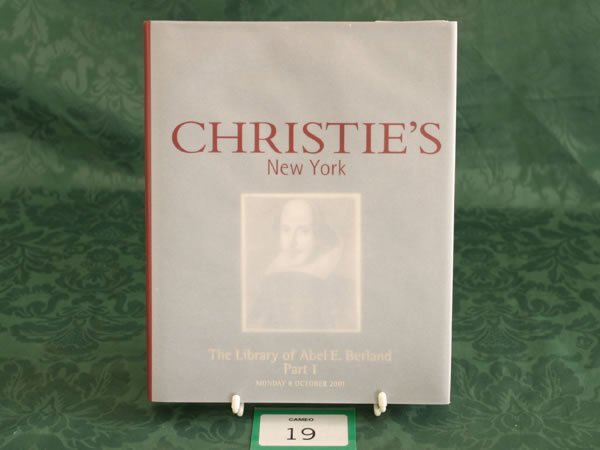 3019: Christie's New York 'The Library Of Abel E. Berla