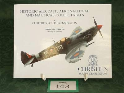 3143: Christie's South Kensington 'Historic Aircraft, A
