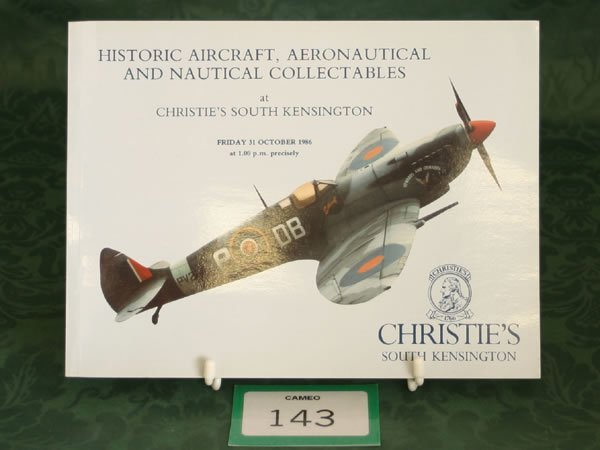 3143: Christie's South Kensington 'Historic Aircraft, A